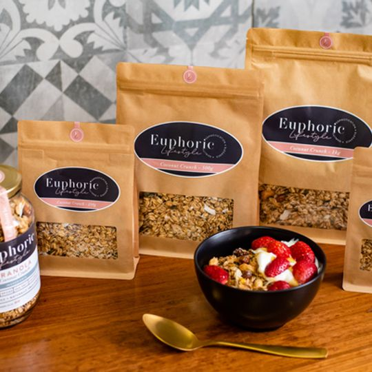 Euphoric Lifestyle Coconut Crunch Granola 500g bag