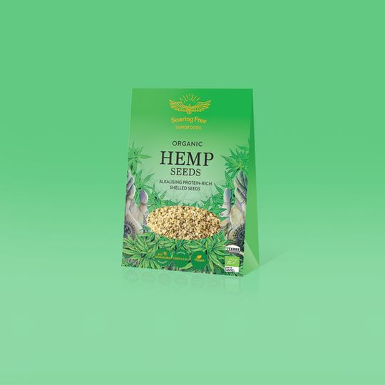 SOARING FREE SUPERFOODS Organic Hemp Seeds - 200g