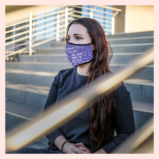 CRC Branded Protective Mask - Purple & White