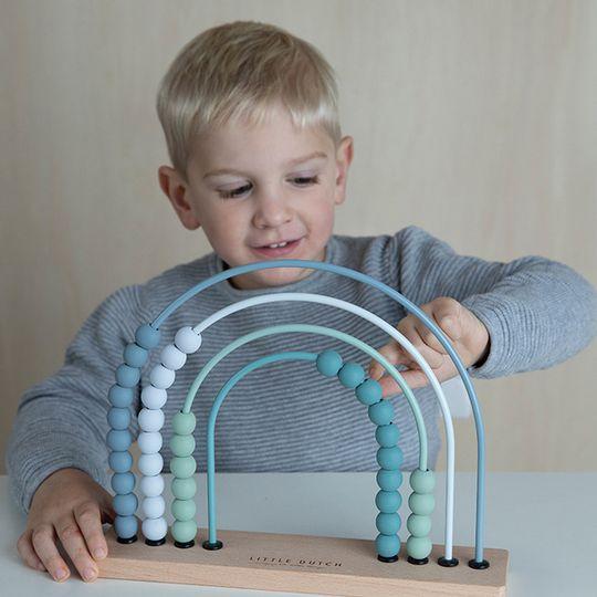 Little Dutch Rainbow Abacus - Blue
