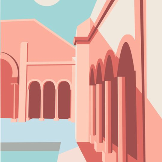 Sunset Architecture Print
