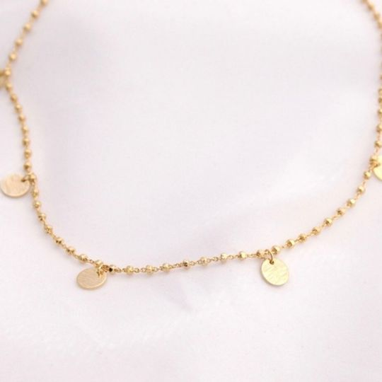 The Gold Disc Necklace