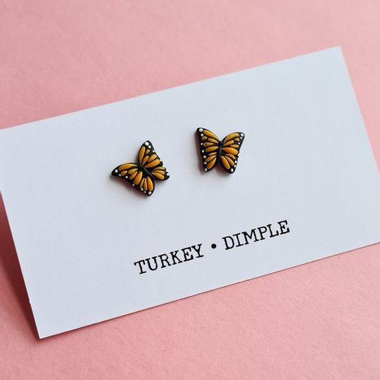Monarch Butterfly studs
