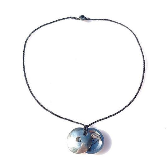 FOXY Braided Necklace & Choker Heart - Charcoal
