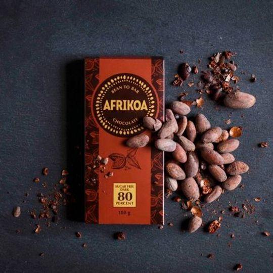 Afrikoa Sugar Freedark Chocolate 80% (100g)