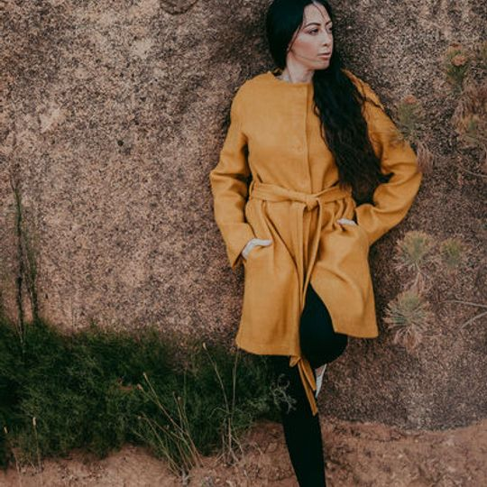 ILAN-Nicci Coat Yellow Ochre