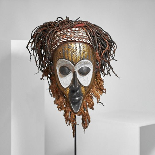 Gold mask from The Congo