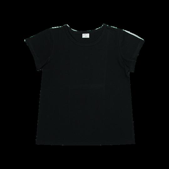 Ladies Short Sleeve - Round Neck Black
