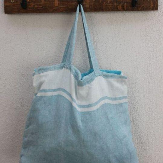 Kikoy Bag - turquoise