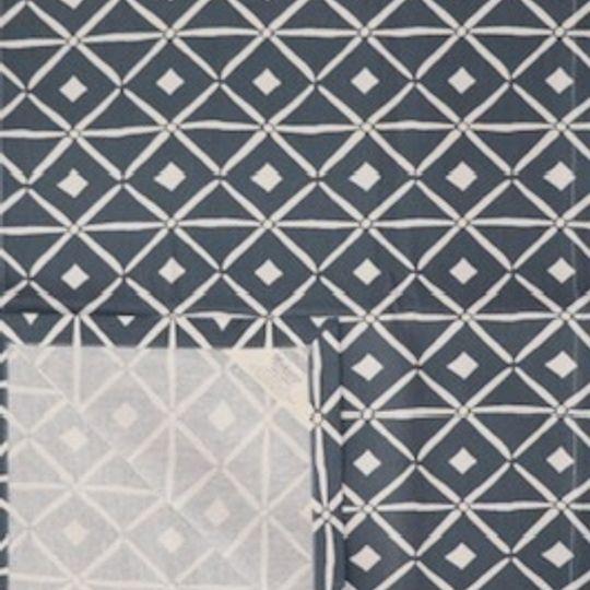 Blue grey verandah runner printed on 100% cotton