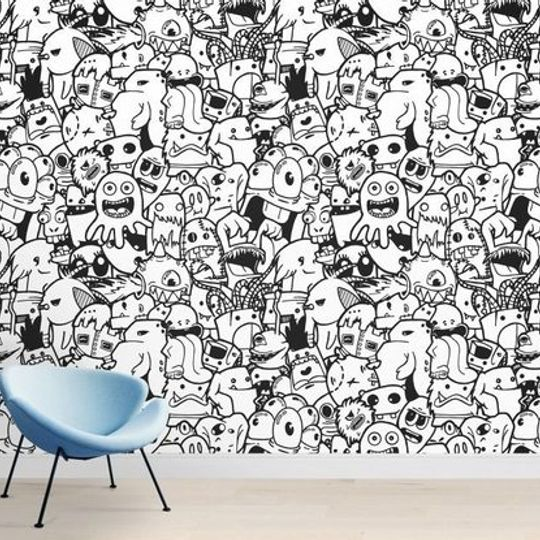Wacky Wallpaper- Mushy Monsters