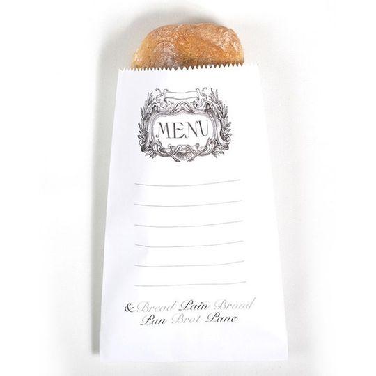 "2 Bread bags - ""Menu"""