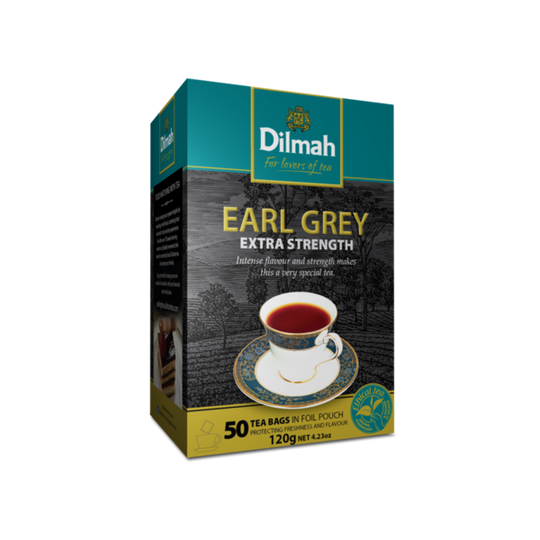 Dilmah Earl Grey Extra Strength (50 x 2.4g tagless tea bags)