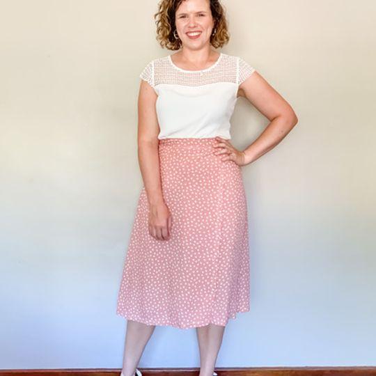 Midi Wrap Skirt - Pink Floral