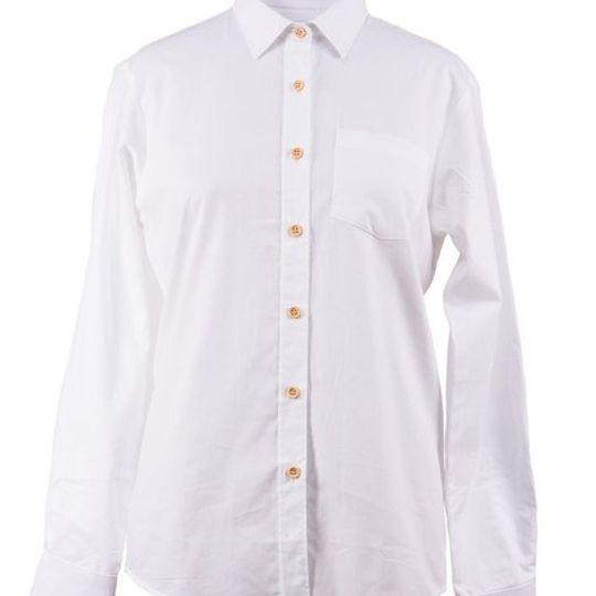Ladies Classic White Long Sleeve Shirt