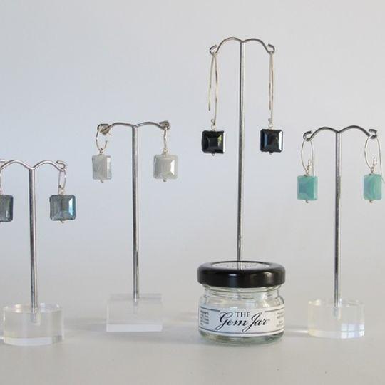 GEM JAR Large Crystal Squares