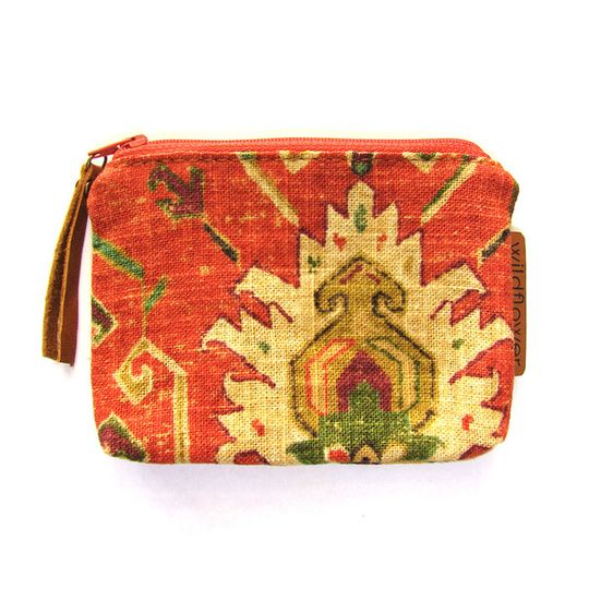 Zip Purse - Tangerine Tapestry