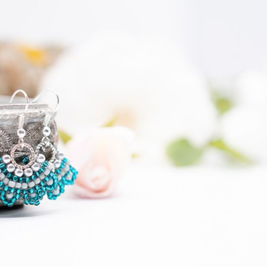 Dainty Petite Earrings with Silver Finish