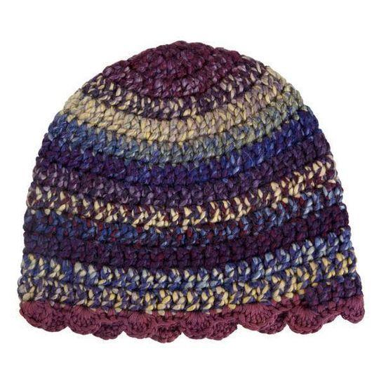 Winter Beanies / Girls - Plum Stripes - M0259