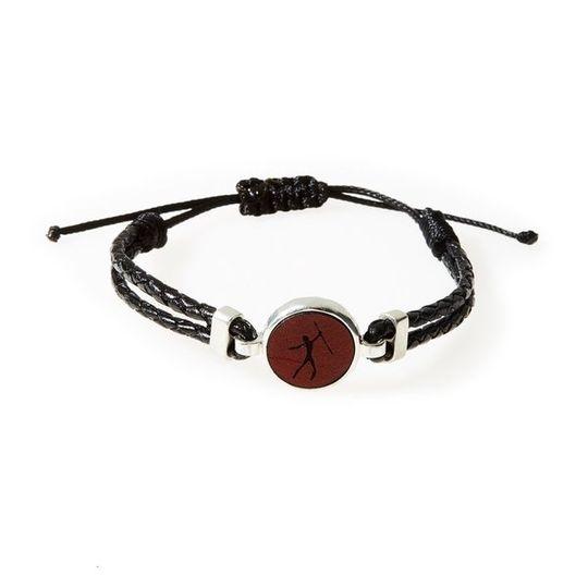 HUNK Braided leather Bracelet Hunter - Black