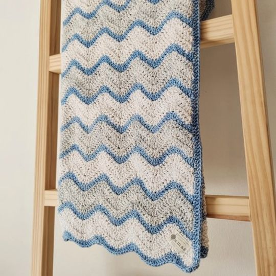 The Peace Blanket (Blue/Grey)