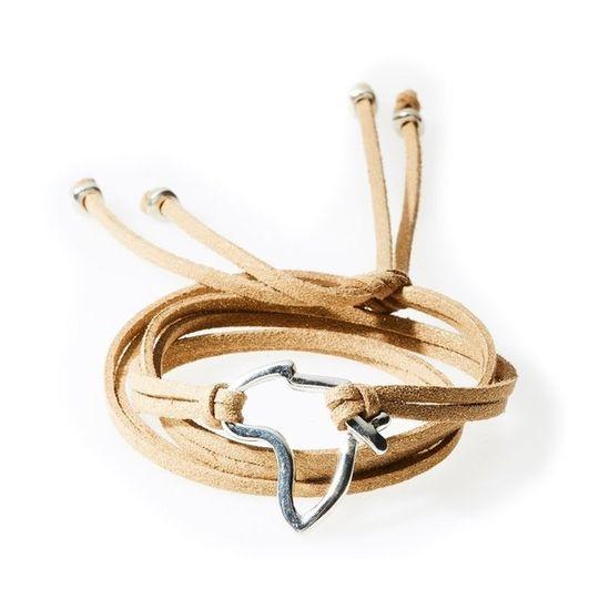 FIERCE Versatile faux suede Bracelet, Necklace & Choker Africa - Gold Shimmer