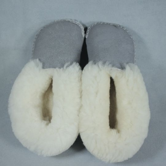 Handmade sheepskin slippers - Grey