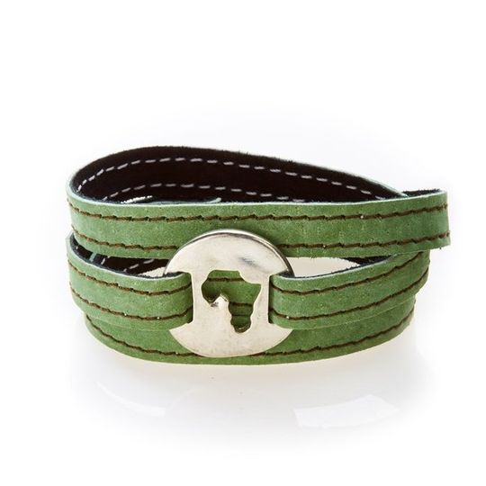 BOLD Reversible suede Bracelet and Choker Africa - Black/Olive Green