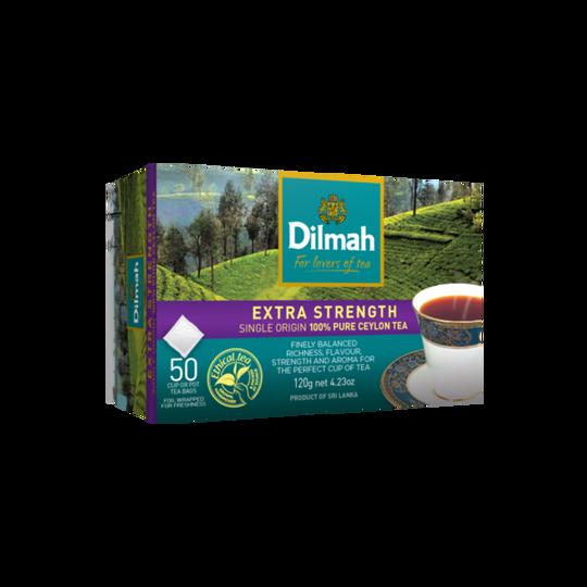 Dilmah Extra Strength Premium Ceylon (50 x 2.4g) taggless tea bags