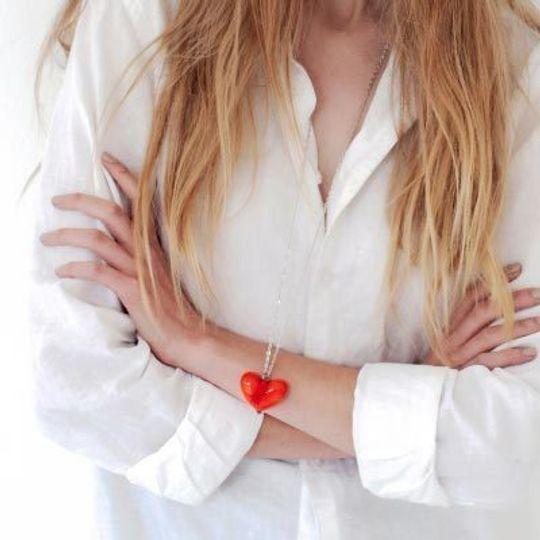 Pendant Glass & Tassel Necklace