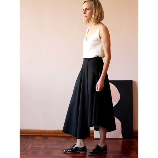 Short side wrap skirt