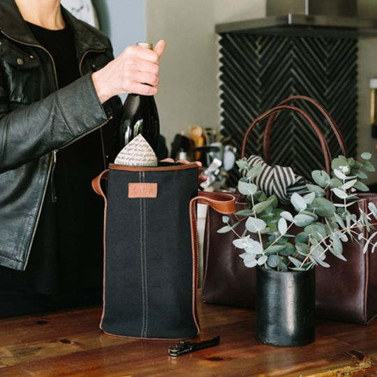 DANIEL Cotton Canvas & Leather Wine Cooler