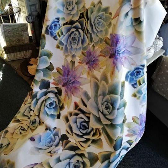 Succulent Bouquet: Table Cloth / Per Meter