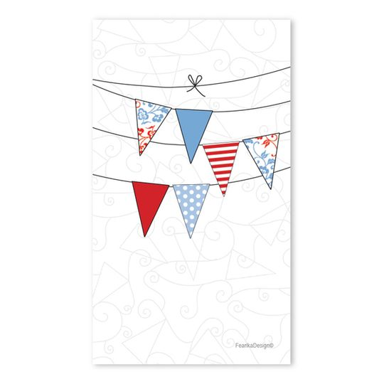 10 Little Letters - Triple Bunting Blue &Red