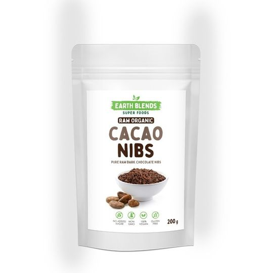 Earthblends Organic Cacao Nibs - (200g)