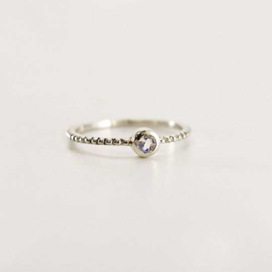 Fine Bubble Moonstone Ring