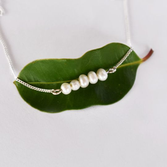 Candy Pearl Necklace - White