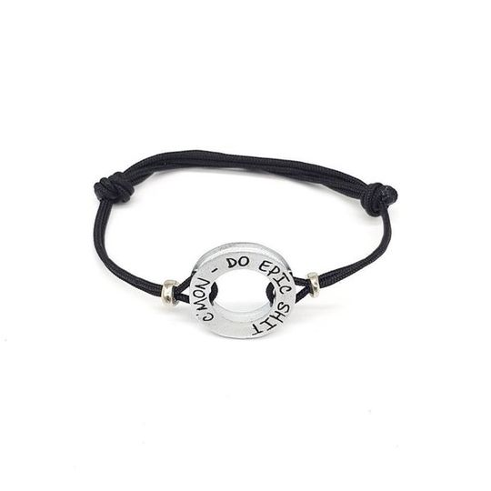 HERO Black Cord Bracelet - C'mon, do epic shit