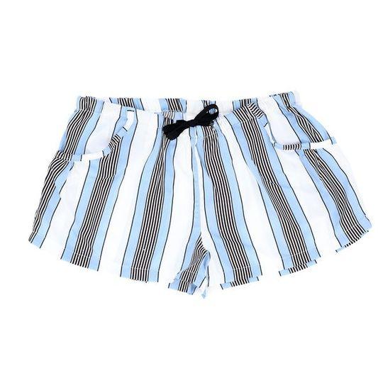 Short Pants - Pockets White Stripe