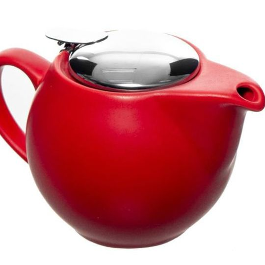 500ml Colourful Red/Blue teapot with stainless steel infuser