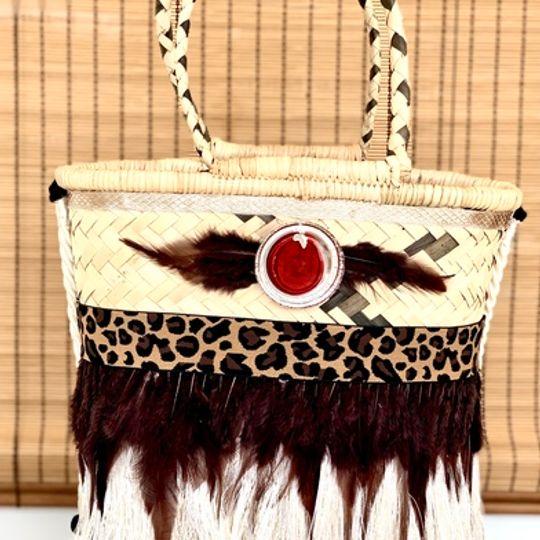 Gootchi Basket Tote Handbag/Leopard Print