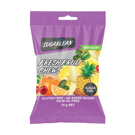 Sugarlean Fresh Fruit Chews (70 g)