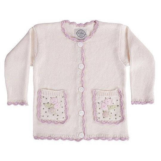 Winter Jersey / Girls - Cream Knitted Cardigan - M0367
