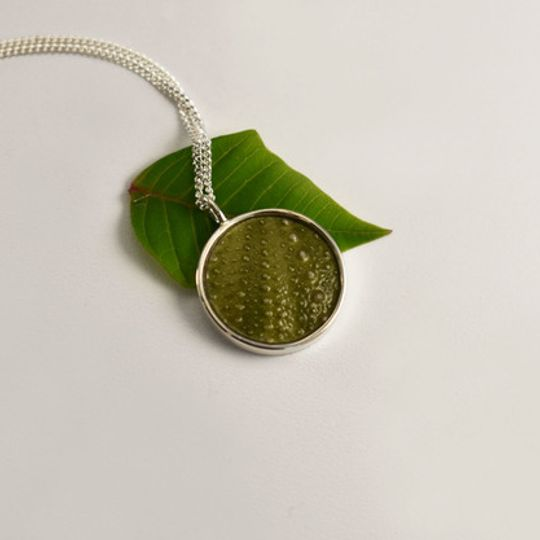 Round Green Sea Urchin Necklace