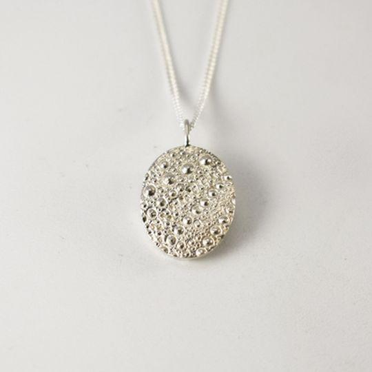 Sea Urchin Texture Necklace - Oval