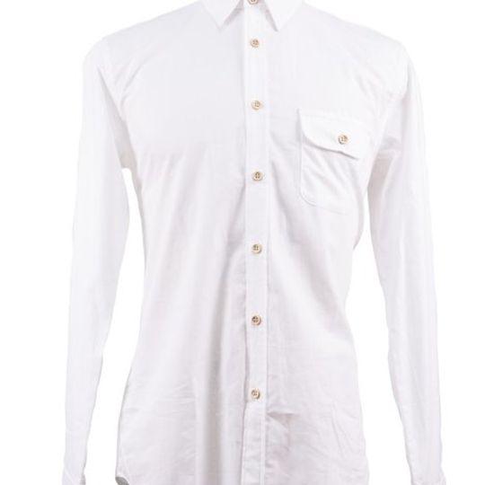 Men's Classic White Long Sleeve Shirt