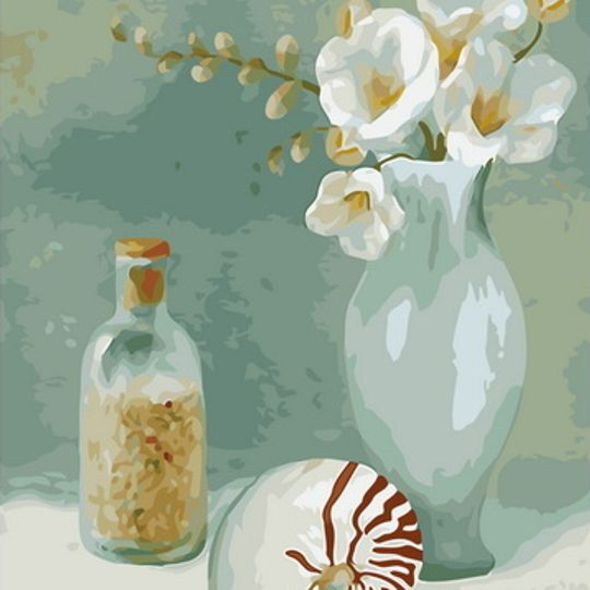 Still Life with Shell and Bottle