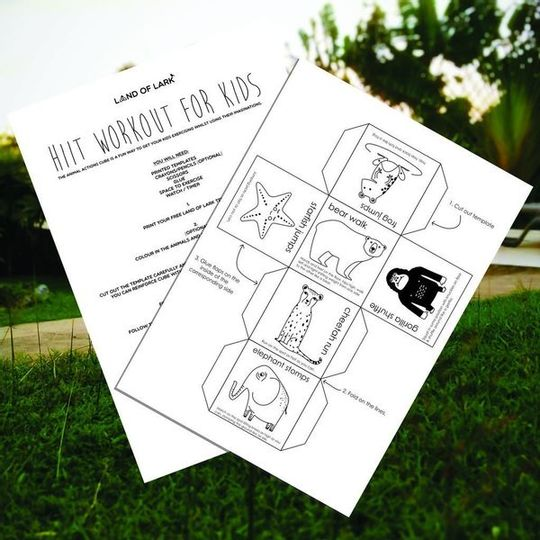 FREE HIIT workout cube for kids