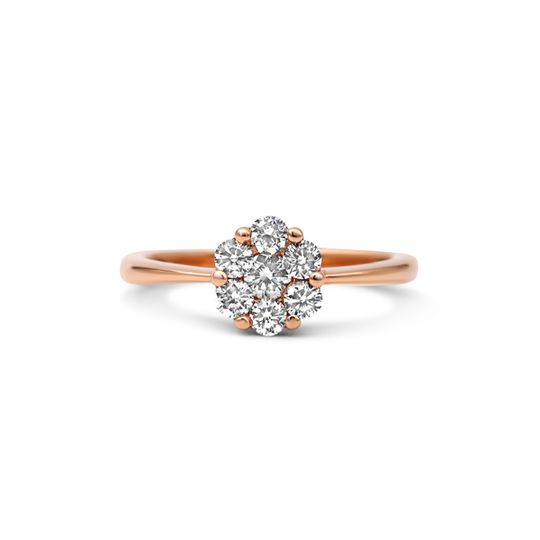 18ct Rose Gold Diamond Ring - The Blossom