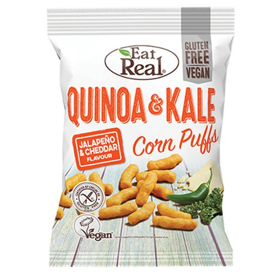 Eat Real Quinoa & Kale Corn Puffs White Cheddar 40g